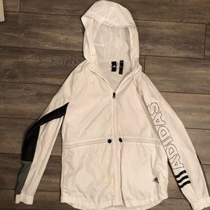 Small Adidas Windbreaker White